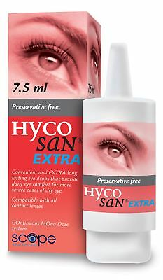 Hycosan Extra Preservative-Free Lubricating Eye Drops 7.5ml