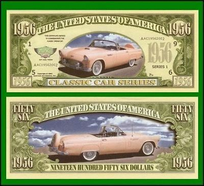 15 Factory Fresh Novelty 1956 Thunderbird Car Dollar Bills