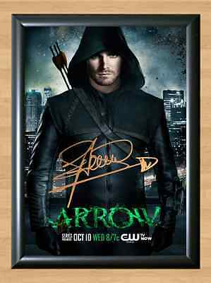Stephen Amell Arrow Tracey Fragments Signed Autographed A4 Print Photo Poster