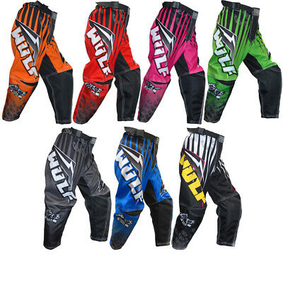 Wulf Arena Cub Motocross Pants Junior MX Off Road Trousers Kids Childrens Junior