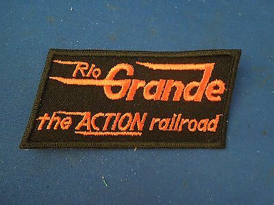 Vintage Rio Grande The Action Railroad Embroidered Sew On Patch Bold Text