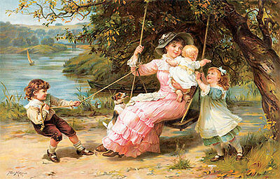 The Swing by Frederick Morgan (Art Print of Vintage Art)