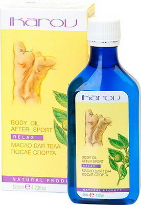 """After Sport Body Massage Oil """"Relax"""" Natural Muscle Relief IKAROV 4.23oz/125ML"""