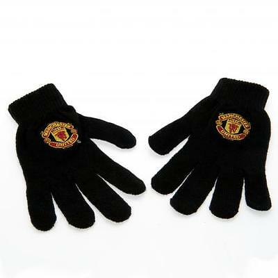 Official Licensed Football Product Manchester United Knitted Gloves Adult Gift