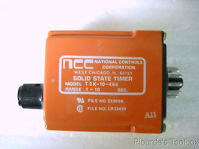 Used National Controls T2K-10-466 Solid State Time Delay Relay, 120V