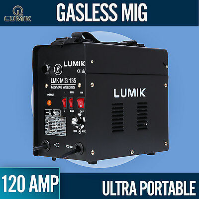 NEW 120 Amp MIG Gasless Portable Welder Welding Machine MAG Ultra Portable