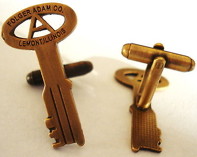 FOLGER ADAM CO Prison Guard Key Jail Suit Tuxedo Cuff Link CUFFLINKS SET