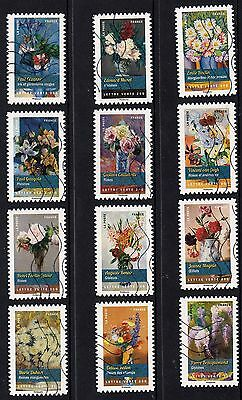 France 2015 Flower Boquets Stamps P Used S/A