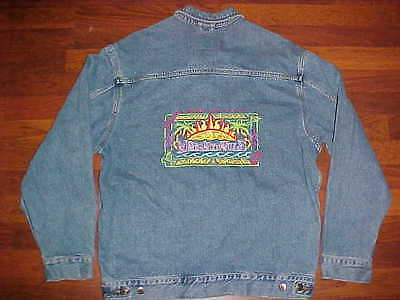 Jimmy Buffett Margaritaville Orlando Swingster Identity Men Blue Denim Jacket M