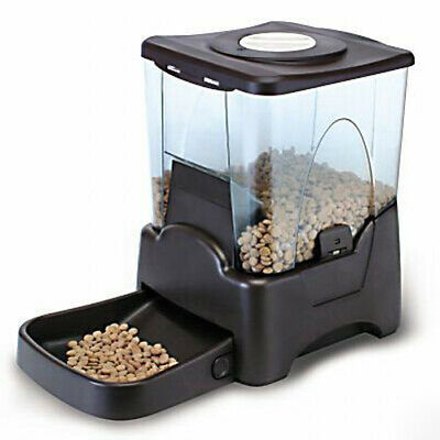 Automatic Pet Feeder Dog Cat Programmable Timer Portion Control w/ LCD display