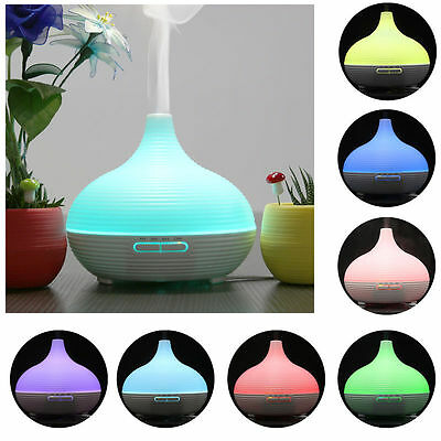7 Color LED Ultrasonic Air Humidifier Purifier Aroma Essential Oil Diffuser
