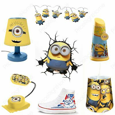 Minions Kids Bedroom Lighting Night Light Lamp Bedside Light Ceiling Shade