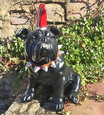 Quirky British Bulldog Figurine Ornament 'Spike' Punk Rocker Mohican Dog Gift