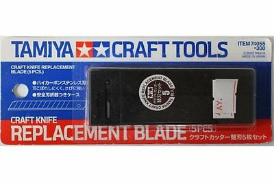TAMIYA 74055 Lames pour Cutter (5 pcs) – Craft Knife Replacement Blade (5 pcs)