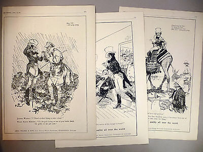 "Johnnie Walker Whiskey PRINT AD -  1919 & 1920 ~~ LOT of three large 10.5"" x 16"""