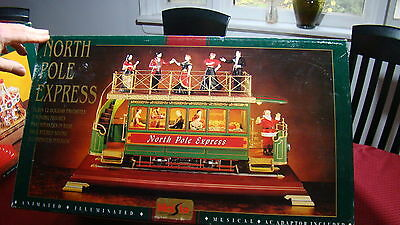 North Pole Express New/old Stock In Box Never Opened Musical Trolley