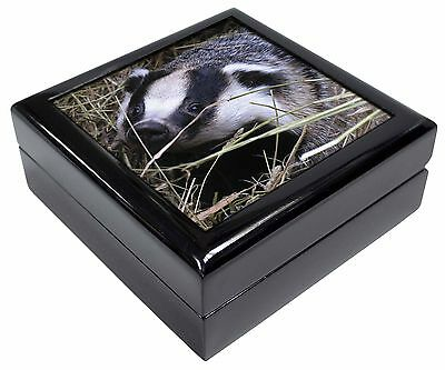 Badger in Straw Picture Jewellery Box Christmas Gift, ABA-1JB