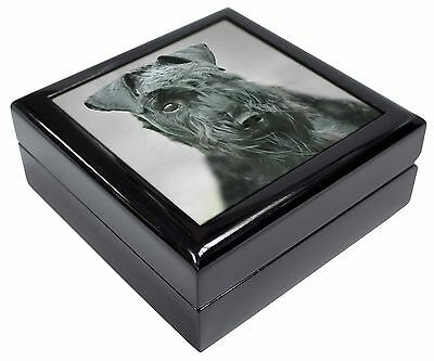 Kerry Blue Terrier Dog Picture Jewellery Box Christmas Gift, AD-KB1JB