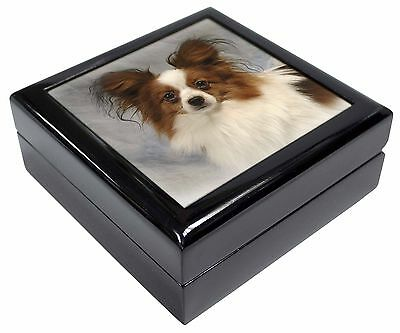 Papillon Dog Picture Jewellery Box Christmas Gift, AD-PA1JB