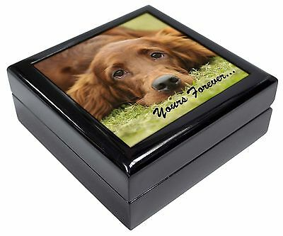 Red Setter Dog 'Yours Forever' Picture Jewellery Box Christmas Gift, AD-RS2yJB
