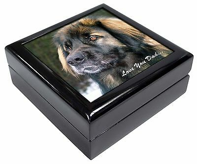 Leonberger Dog 'Love You Dad' Picture Jewellery Box Christmas Gift, DAD-68JB