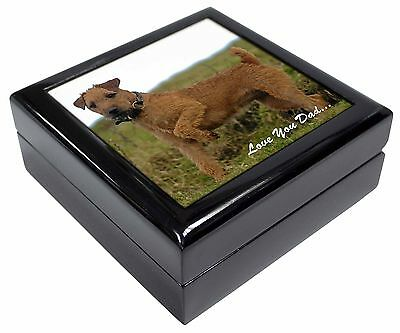 Lakeland Terrier 'Love You Dad' Picture Jewellery Box Christmas Gift, DAD-73JB