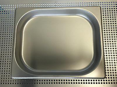 5 x Half Size 1/2 40mm Bain Marie Gastronorm GN Pan Tray Stainless Steel