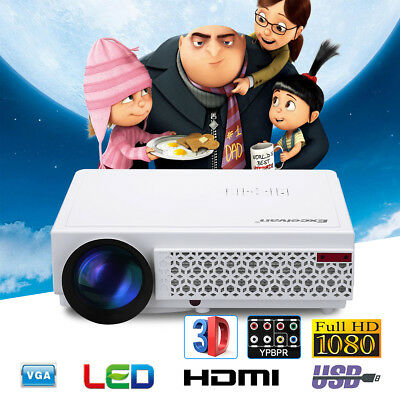 4500 Lumens Mini Home Projector LED HD Proyector 1080P 3D HDMI ATV 5000:1 Teatro