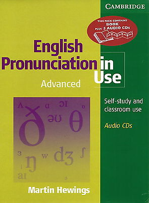 Cambridge ENGLISH PRONUNCIATION IN USE Advanced Book w 5 Audio CDs | Hewings NEW