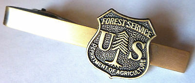 US FOREST SERVICE USDA Dept of Agriculture Forestry Badge TIE BAR CLIP