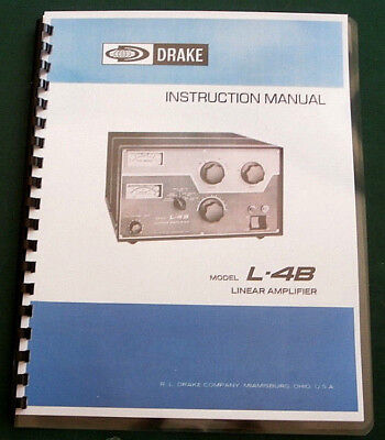 Drake L-4B Instruction Manual - Premium Card Stock Covers & 28lb Paper