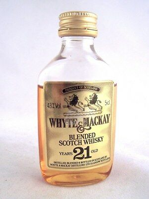 Miniature circa 1982 WHYTE & MACKAY 21YO Whisky ( Plastic bottle Isle of Wine