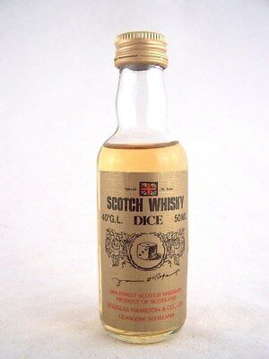 Miniature circa 1973 DICE Scotch Whisky Isle of Wine
