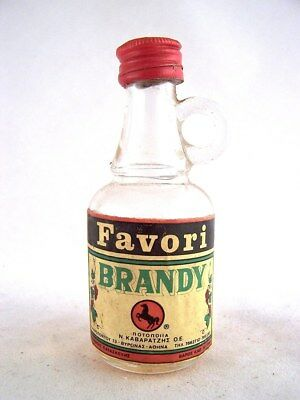 Miniature circa 1979 FAVORI GREEK Brandy Isle of Wine