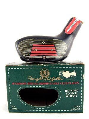 Miniature circa 1976 McGIBBON'S Ceramic Golf Club Whisky Isle of Wine