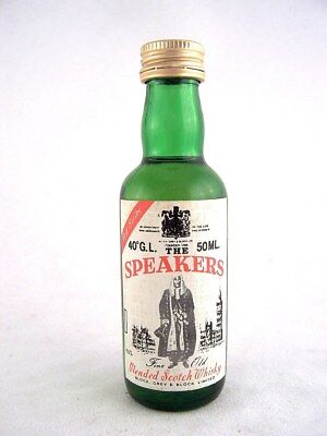 Miniature circa 1980 THE SPEAKERS Scotch Whisky Isle of Wine