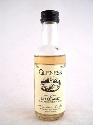 Miniature circa 1975 GLENESK 12YO Malt Whisky Isle of Wine