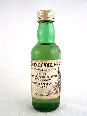Miniature circa 1975 OLD COBBLERS Scotch Whisky Isle of Wine