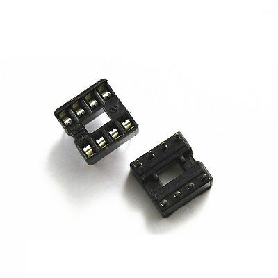 50PCS 8 Pin DIP8 Integrated Circuit IC Sockets Adaptor Solder Type