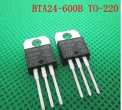 10Pcs Bta24-600B Bta24 Triac 600V 25A To-220Ab New