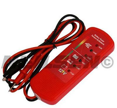 Car Battery & alternator tester LED vehicle charging system motorcycle 12v van