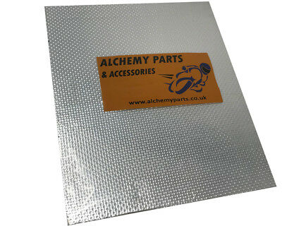 Exhaust Reflective Heat Shield 40 x 33cm for Motorbike Car - Self Adhesive