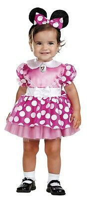 Infant Girls Disney Pink Minnie Mouse Costume Dress Dg11398W 12-18 Mos New