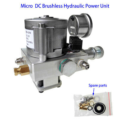 Single Acting Electric Hydraulic Pump Power Pack Unit 12V DC 10MPa Oil Pump Kit