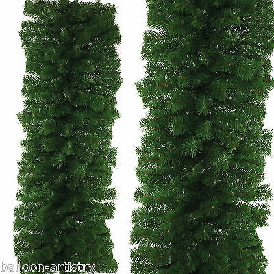 2.7m Deluxe Christmas Party Thick Natural Green Pine Tinsel Garland Decoration