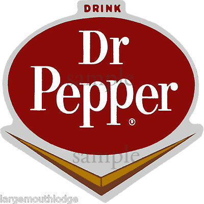 2 Inch Dr. Pepper V Decal Gumball Nut Vending Machine