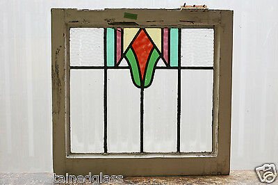 Antique Stained Glass Window Five (5) Colors Arts n Crafts Design         (2933)