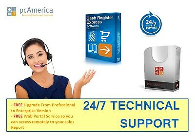 PC America Cash Register Express/ Restaurant Pro Express 24/7 Technical Support
