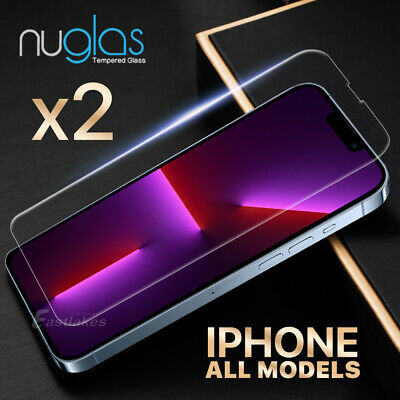 2x GENUINE NUGLAS Tempered Glass Screen Protector Apple iPhone XS Max XR 87 Plus