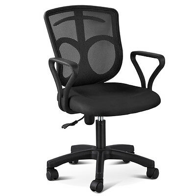 Black Executive Ergonomic Mesh Computer Office Desk Midback Swivel Task Chair